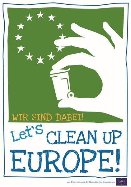 das Logo der Aktion Lets clean up Europe
